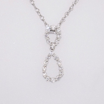 18ct white gold diamond pendant PE4125