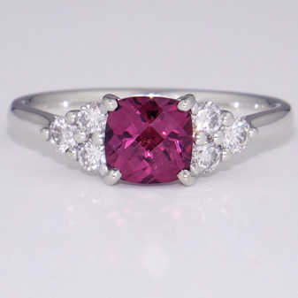 platinum raspberry garnet and diamond ring GR5994