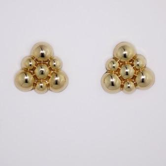 9ct yellow gold stud earrings ER2460