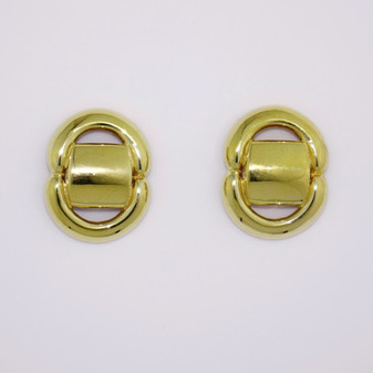 18ct yellow gold stud earrings ER2472