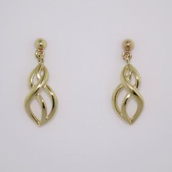 9ct yellow gold drop earrings ER11691
