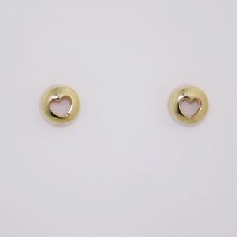 9ct yellow gold stud earrings ER11686