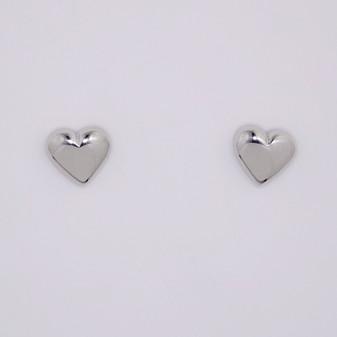 9ct white gold stud earrings ER11690
