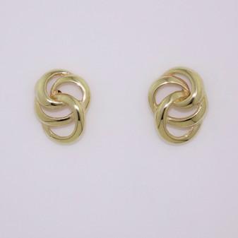 9ct yellow gold openwork stud earrings ER11689