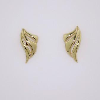 9ct yellow gold stud earrings ER11687
