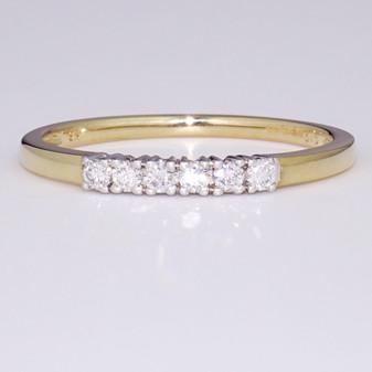9ct gold diamond ring ET1279