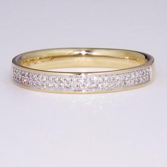 9ct yellow gold diamond ring ET1365