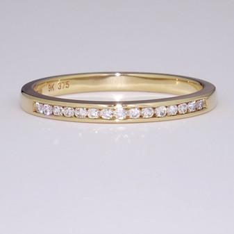 9ct yellow gold diamond ring ET1283