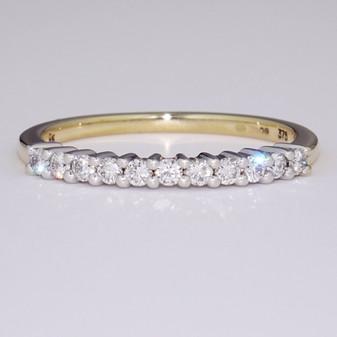9ct gold diamond ring ET1298
