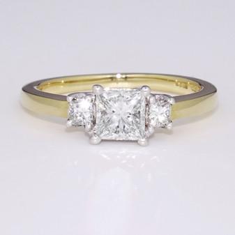 18ct gold diamond trilogy ring GR2800