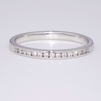 9ct white gold channel-set diamond eternity ring ET1328