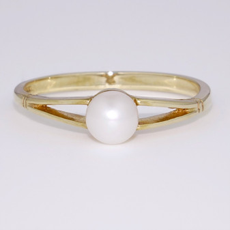 9ct yellow gold pearl ring DR2857