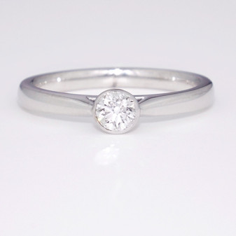 9ct white gold diamond solitaire ring GR5207