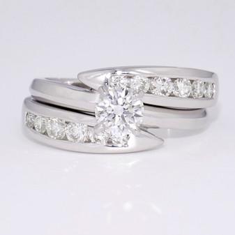 18ct white gold diamond bridal set GR3060