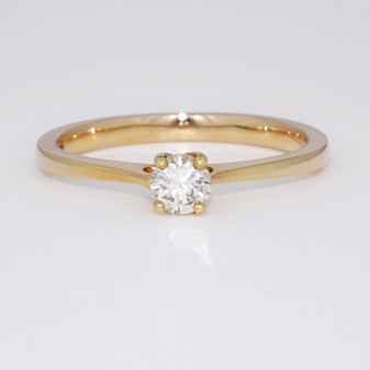 18ct rose gold diamond solitaire ring GR4184