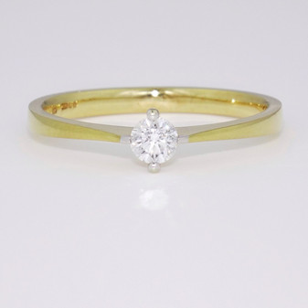 18ct gold diamond solitaire ring GR3385