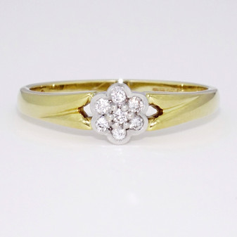 18ct gold diamond cluster ring GR2152
