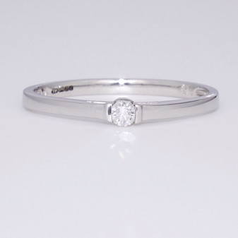 9ct white gold diamond solitaire ring GR3726