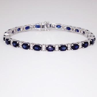 18ct white gold sapphire and diamond bracelet BRA5637