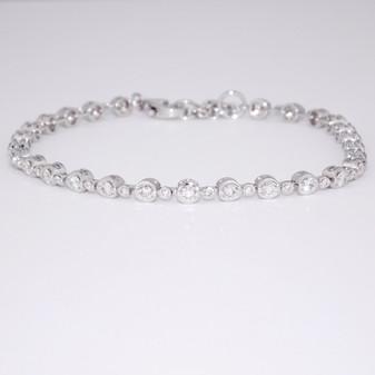 18ct white gold diamond bracelet BRA5651