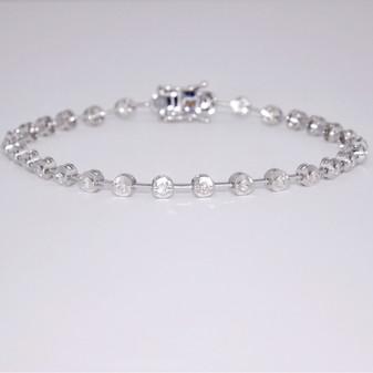 18ct white gold diamond bracelet BRA5650