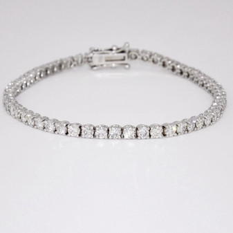 18ct white gold diamond tennis bracelet BRA5611
