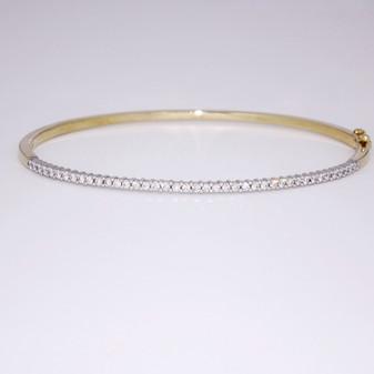 9ct gold diamond bangle BA903