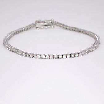 18ct white gold diamond tennis bracelet BRA5618