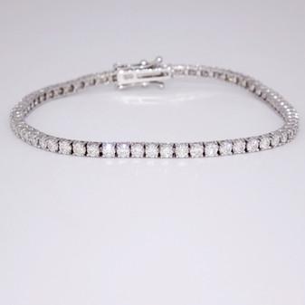 18ct white gold diamond tennis bracelet BRA5610