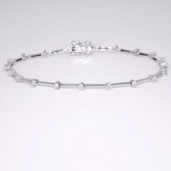 9ct white gold diamond bracelet BRA5482