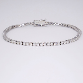 18ct white gold diamond tennis bracelet BRA5609