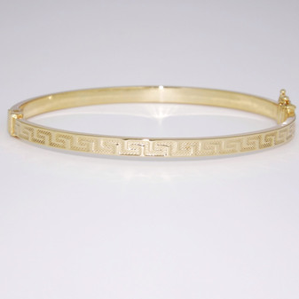 9ct yellow gold bangle BA1033