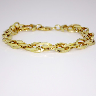 9ct yellow gold oval link bracelet BRA5622