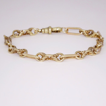 9ct yellow gold twisted link bracelet BRA5507