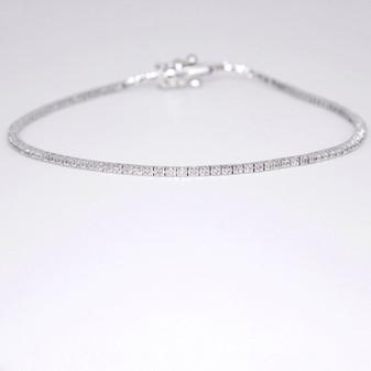 9ct white gold diamond bracelet BRA5621