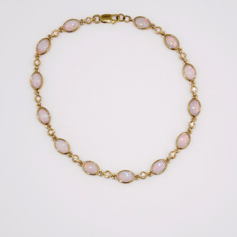 9ct yellow gold opal and diamond bracelet BRA5635