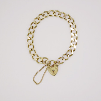 9ct yellow gold charm bracelet BA3768