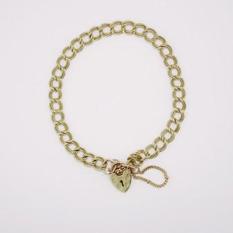 9ct yellow gold charm bracelet BRA5394