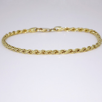9ct yellow gold rope bracelet BRA4302