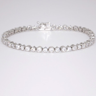 Silver CZ Bracelet SBRA65