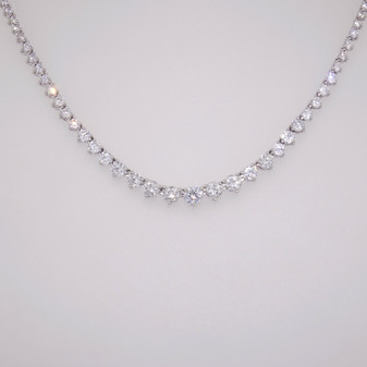 Silver graduated CZ necklace SNEC48