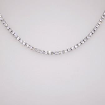 Silver CZ necklace SNEC45