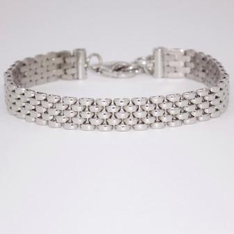 Silver panther link bracelet SBRA60