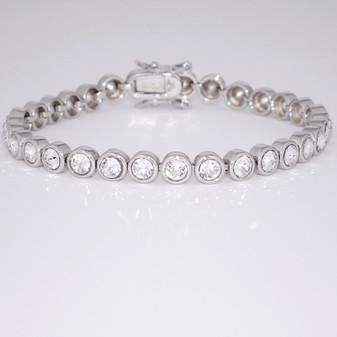 Silver CZ bracelet SBRA44