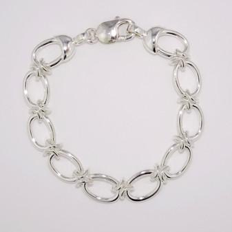 Silver chunky bracelet SBRA61