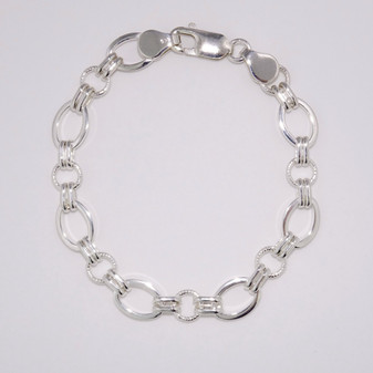 Silver handmade bracelet SBRA15