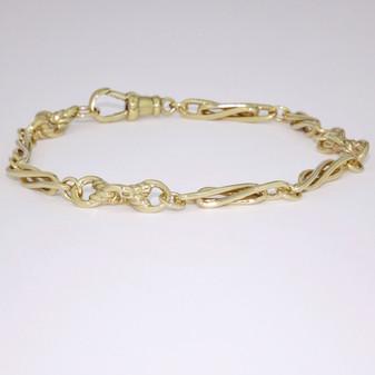 9ct yellow gold handmade bracelet BRA5506