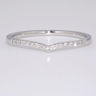 Platinum diamond wishbone ring