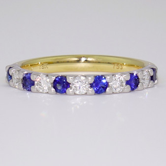 18ct gold sapphire and diamond eternity ring