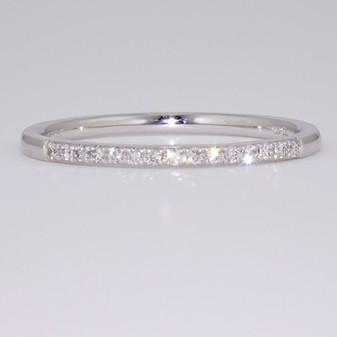 Platinum slim diamond eternity ring